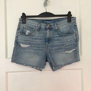Rag & bone denim cut off jean high rise shorts